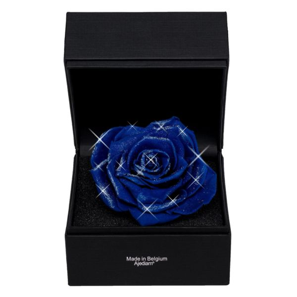 """Blue Premium"" rose in luxury box"